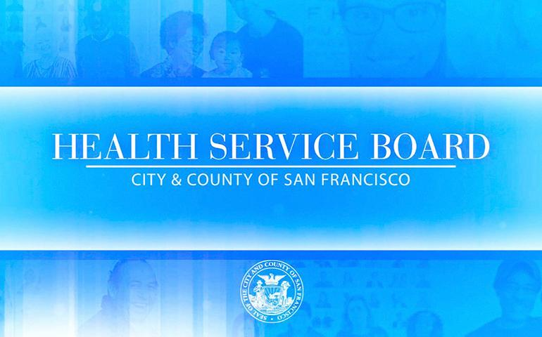 "Image with blue background that says ""Health Service Board"""